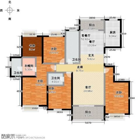 美的翰城4室1厅3卫1厨205.00㎡户型图