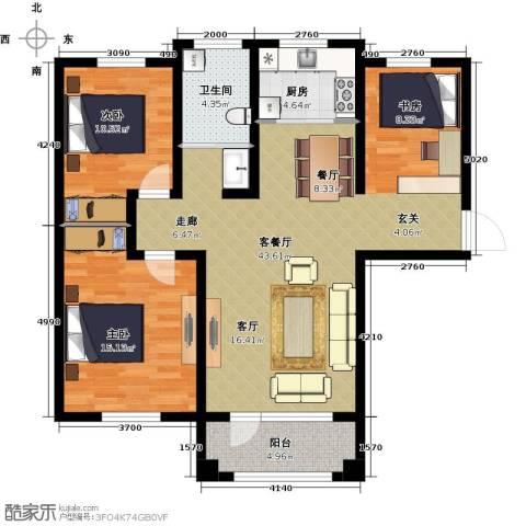 环宇凯旋镇2室1厅1卫1厨119.00㎡户型图