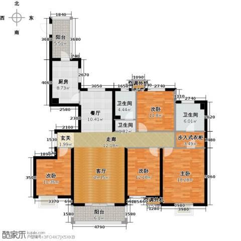 河北国际商会广场4室1厅2卫1厨170.00㎡户型图