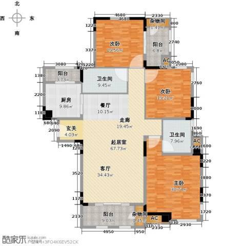 钱隆学府3室0厅2卫1厨188.94㎡户型图