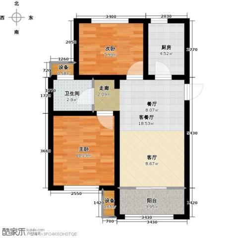 旭辉朗悦湾2室1厅1卫1厨82.00㎡户型图
