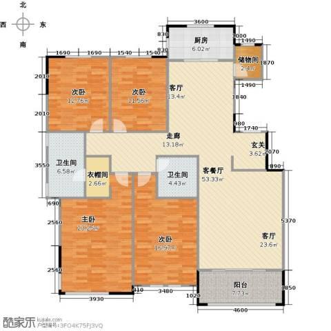 融侨观邸4室1厅2卫1厨194.00㎡户型图