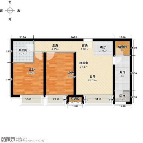 瞰海品筑2室0厅1卫1厨94.00㎡户型图