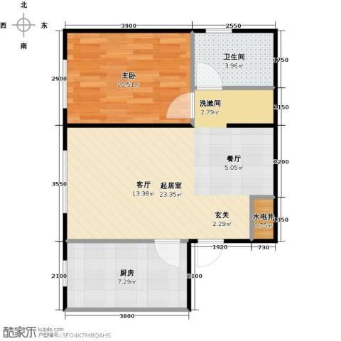 华润凯旋门1室0厅1卫1厨65.00㎡户型图