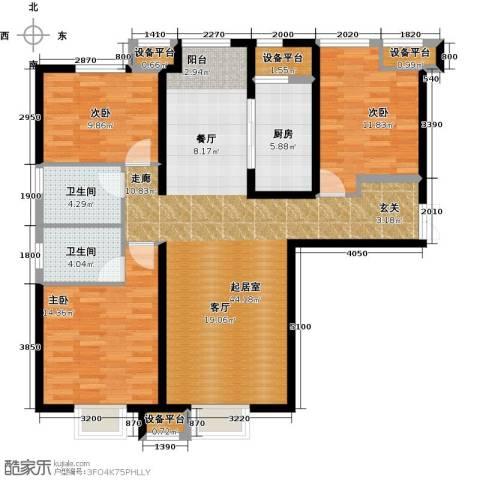 金融街和平中心3室0厅2卫1厨141.00㎡户型图