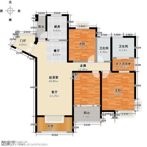 领秀冠南苑3室0厅2卫1厨139.00㎡户型图