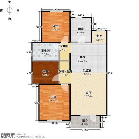 华润凯旋门3室0厅1卫1厨123.00㎡户型图