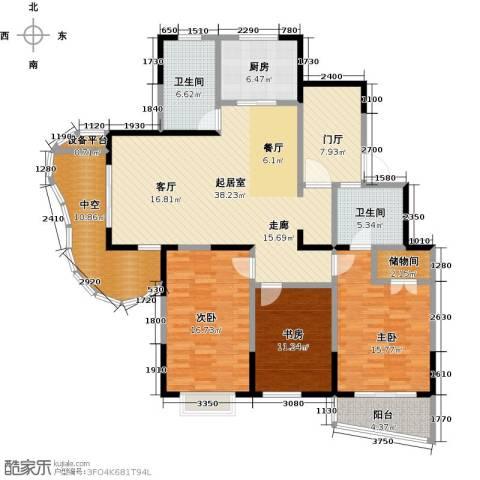 越湖名邸3室0厅2卫1厨143.00㎡户型图
