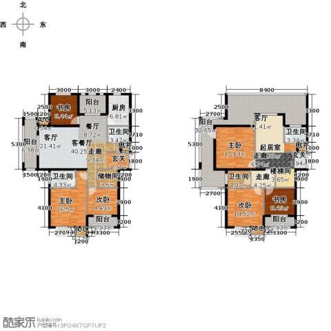 中乐百花公馆6室1厅4卫1厨317.00㎡户型图