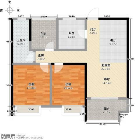 鑫苑鑫城2室0厅1卫1厨89.00㎡户型图