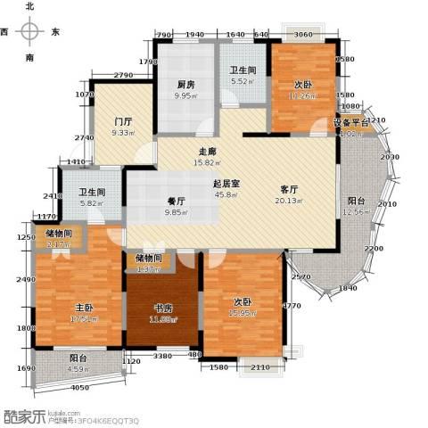 越湖名邸4室0厅2卫1厨173.00㎡户型图