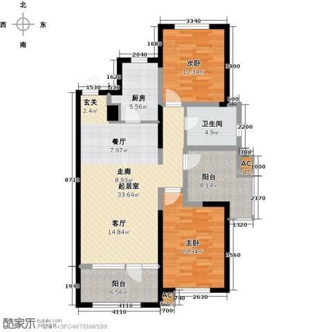 首创光和城2室0厅1卫1厨122.00㎡户型图
