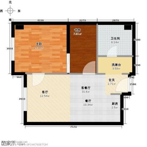 华润紫阳里2室1厅1卫0厨68.00㎡户型图
