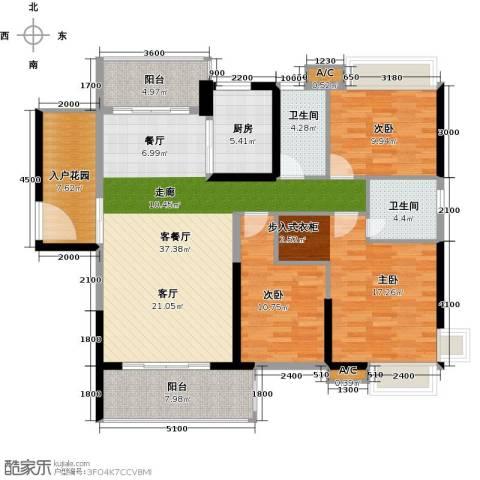锦盛恒富得3室1厅2卫1厨138.00㎡户型图