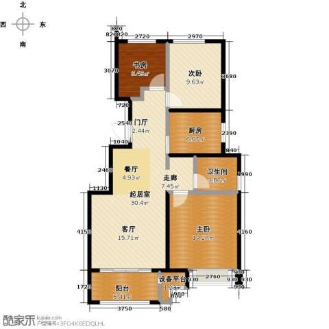 中海8号公馆3室0厅1卫1厨88.00㎡户型图