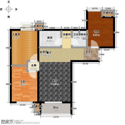 学府嘉园3室0厅1卫1厨100.00㎡户型图