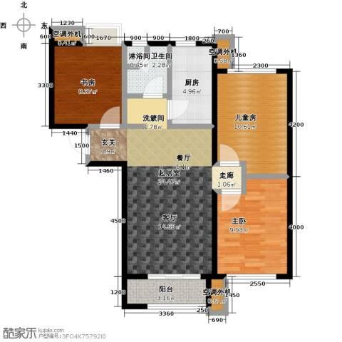 学府嘉园3室0厅1卫1厨99.00㎡户型图