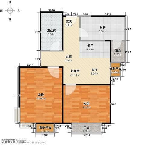 府上和平2室0厅1卫1厨82.00㎡户型图