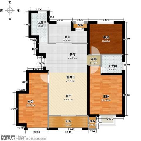 旭辉朗悦湾3室1厅2卫1厨112.00㎡户型图