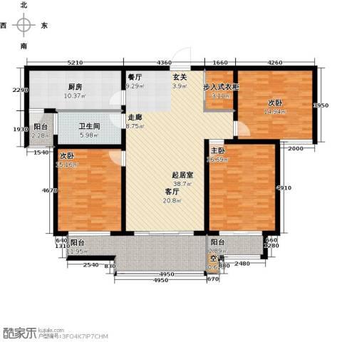 水运雅居3室0厅1卫1厨174.00㎡户型图