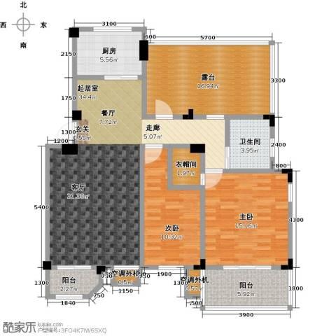 晟地绿园2室0厅1卫1厨97.52㎡户型图