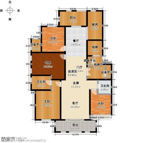 鼎旺大观4室0厅2卫1厨191.00㎡户型图