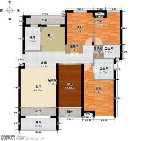 恒信中央公园4室0厅2卫1厨135.00㎡户型图