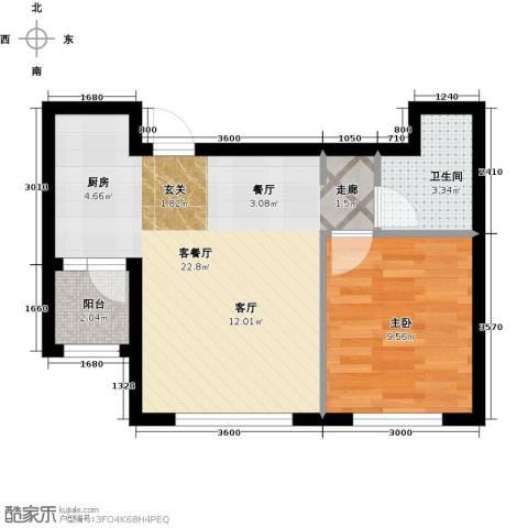 知润山1室1厅1卫0厨54.00㎡户型图