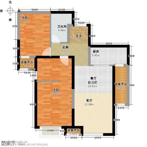 金融街和平中心2室0厅1卫1厨114.00㎡户型图
