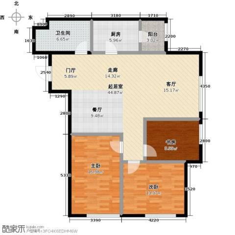 亿合城3室0厅1卫1厨110.00㎡户型图