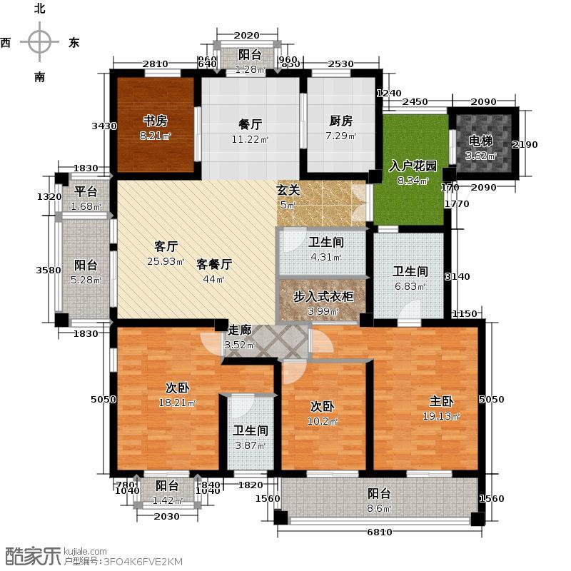 栖霞栖庭180.00㎡多层(帕拉迪奥)3室3厅1卫户型3室3厅1卫