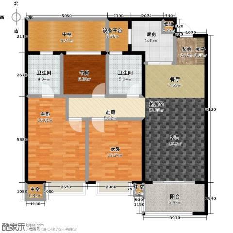 龙湖时代天街3室0厅2卫1厨111.00㎡户型图