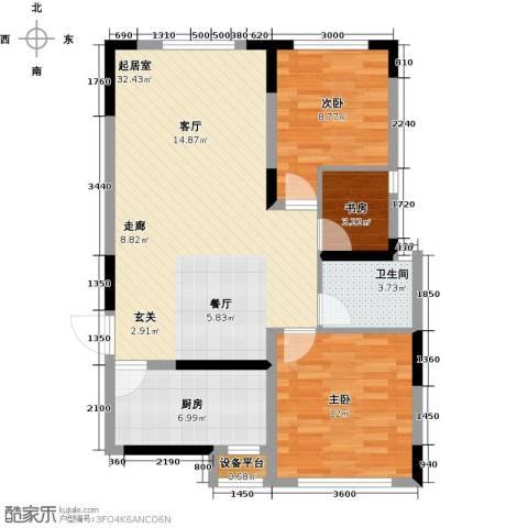 智造创想城3室0厅1卫1厨98.00㎡户型图