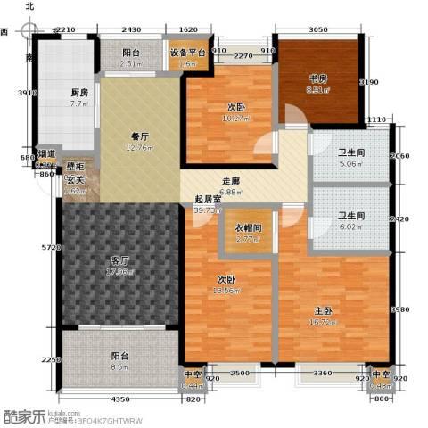 龙湖时代天街4室0厅2卫1厨143.00㎡户型图