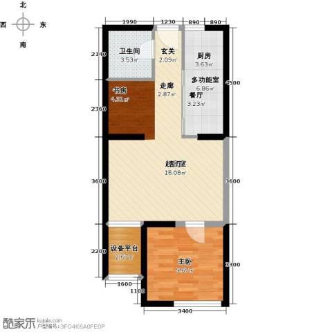 智造创想城1室0厅1卫0厨74.00㎡户型图