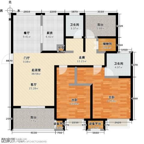 绿地中央广场2室0厅2卫1厨115.97㎡户型图
