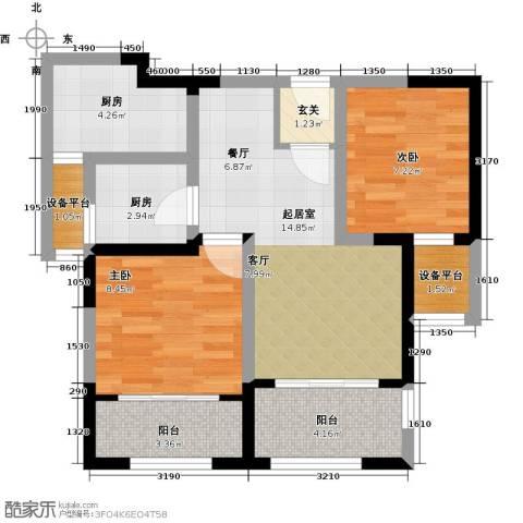 万宇御湖郡2室0厅0卫2厨85.00㎡户型图