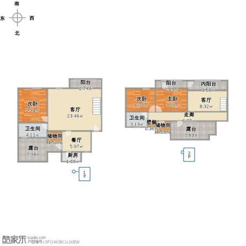 中星凉城苑3室3厅2卫1厨145.00㎡户型图