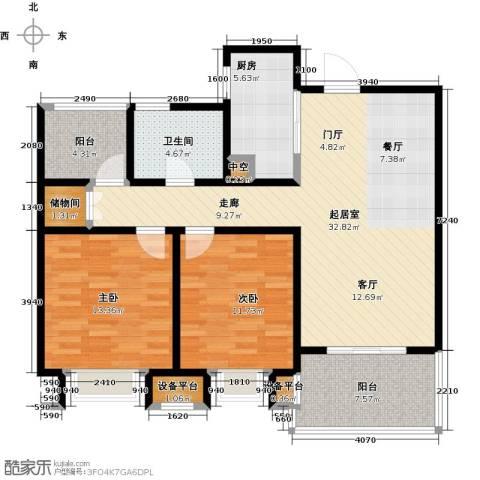 绿地中央广场2室0厅1卫1厨94.86㎡户型图