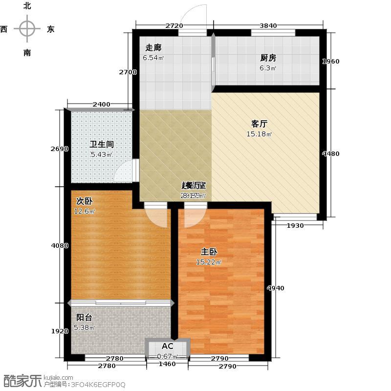 常青藤93.00㎡常青藤1、2小高层03户2室2厅1卫1厨 93.00㎡户型2室2厅1卫