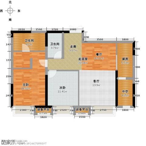 金融街和平中心2室0厅2卫1厨109.00㎡户型图