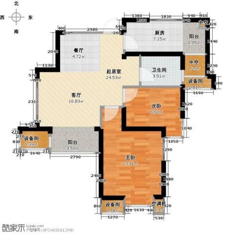 星河荣御2室0厅1卫1厨76.00㎡户型图