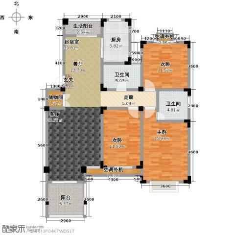 晟地绿园3室0厅2卫1厨123.00㎡户型图