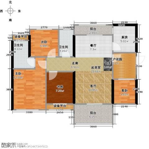 光耀荷兰小城4室0厅2卫1厨93.00㎡户型图
