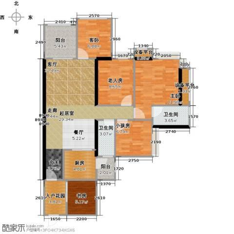 光耀荷兰小城4室0厅2卫1厨114.00㎡户型图