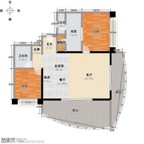 华润小径湾2室0厅2卫0厨138.00㎡户型图