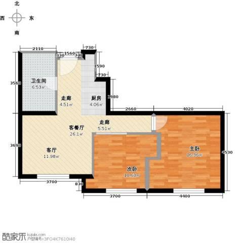 华润紫阳里2室1厅1卫0厨67.00㎡户型图
