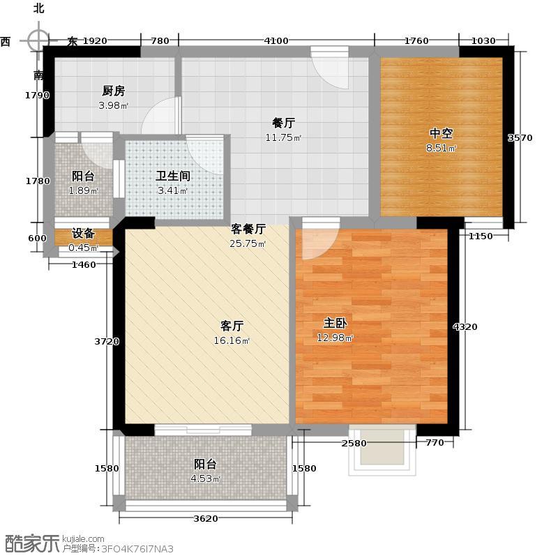 汉南天地77.00㎡汉南天地C户型2室2厅1卫
