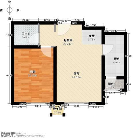 青果青城1室0厅1卫1厨65.00㎡户型图