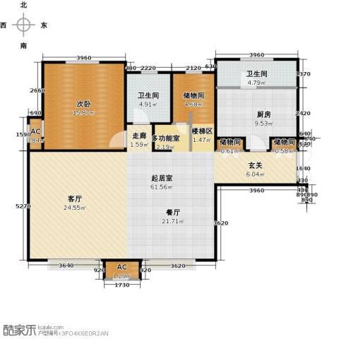 宝能城1室0厅2卫1厨207.00㎡户型图